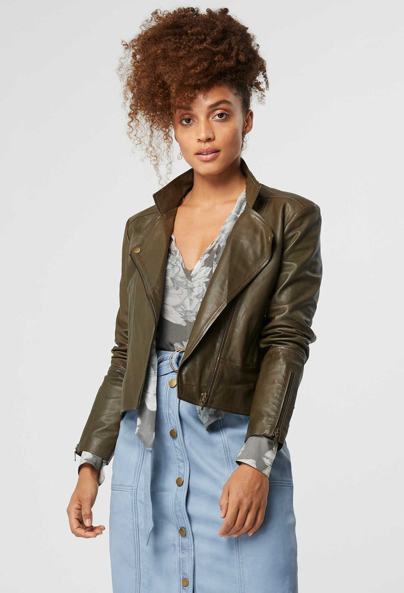 Once Was - Recollection washed leather biker