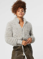 Once Was - Novelle Faux Fur bomber jacket