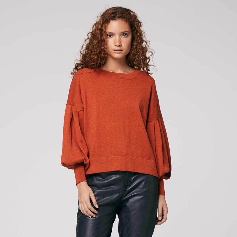 Once Was - Santa Fe Cashmere Blend Pleat Sleeve Knit