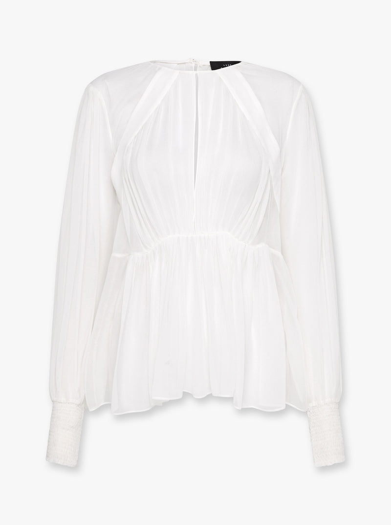 Luxe Deluxe - Sheer Fantasy Silk Blouse