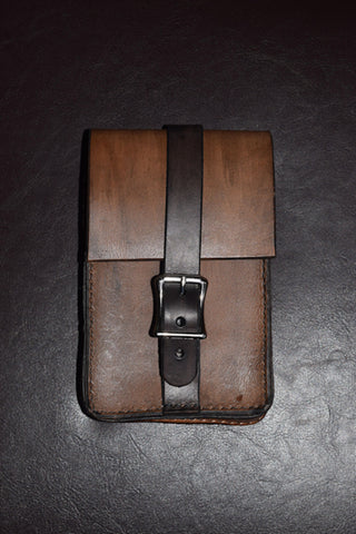 Leather smartphone belt bag