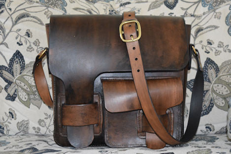 Dark Brown Leather Messenger Bag
