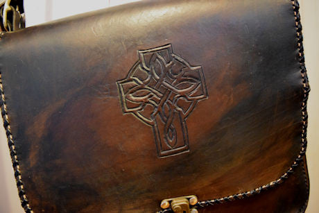 Celtic Leather Satchel