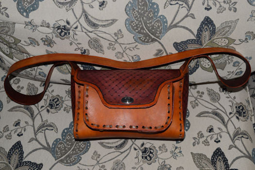 Leather Retro style purse