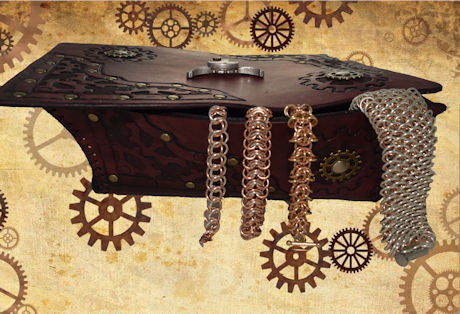 Leather Steampunk Jewellery box