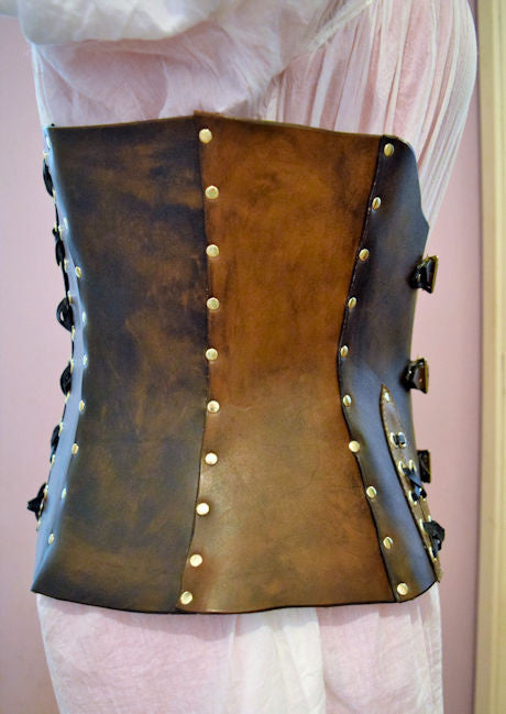 Leather three in one Handmade Underbust Corset