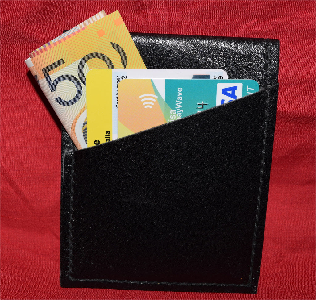 Black Kanagroo mini business card/credit card wallet