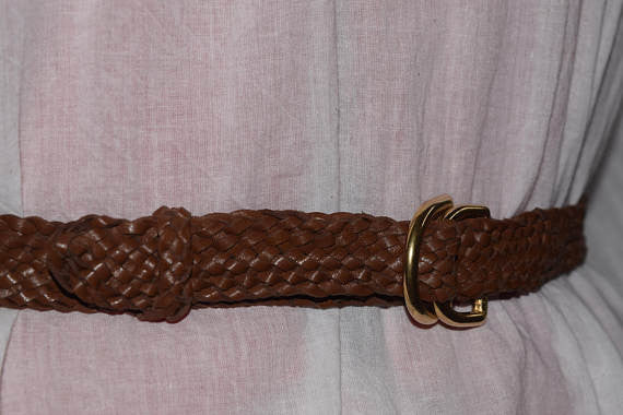 Whisky Braided Kanagroo Leather Belt