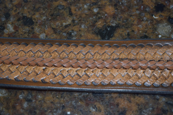 Gorgeous Medium Brown Leather and Lace Bracelet