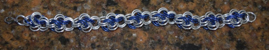 Stunning Cloud Blue and Silver Braclet