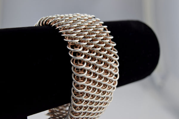 Stunning Rose Gold Dragon Weave Bracelet