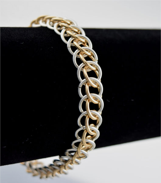 14k Yellow Gold Royal Half Persian Bracelet Chainmaillie
