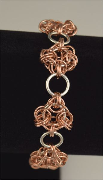 Rose Gold And Sterling Silver Knight's Round bracelet
