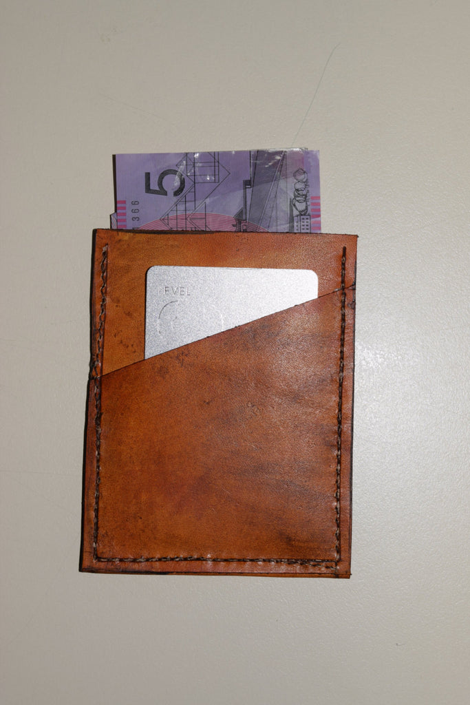 Saddle Tan 100% Leather  mini  wallet