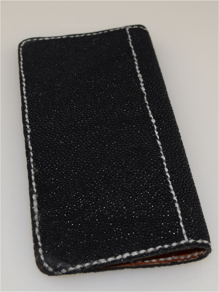 Wallet Black Stingray Wallet hand stitched