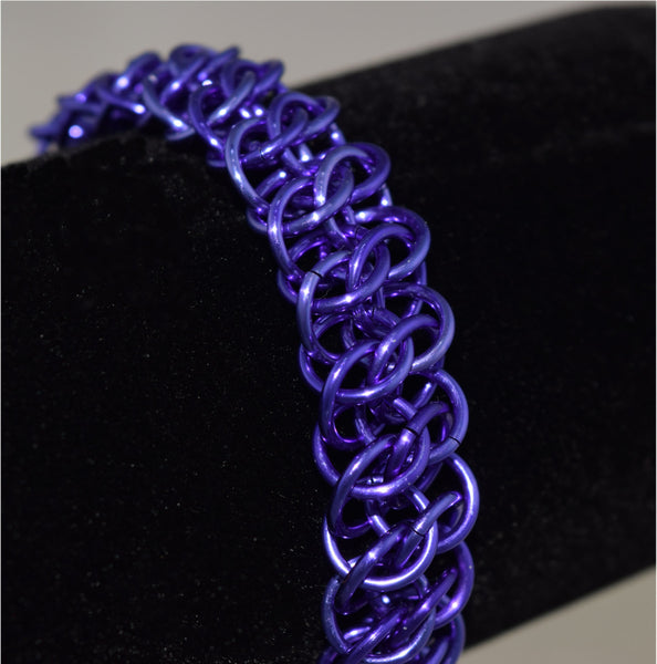 Chainmaille Purple Great Southern Gathering (GSG) Bracelet