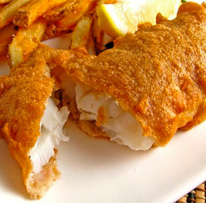 Battered Atlantic Cod Fillets (10-15 portions)