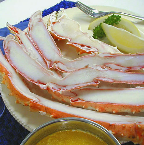 Jumbo Cut & Split Alaskan King Crab Legs & Claws (12/18 portions)