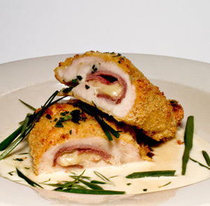 5 oz. Seasoned & Breaded Veal Cordon Bleu (8 portions)
