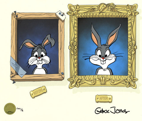 "Chuck Jones ""Hare-thodontia"" 2006 Warner Brothers Limited Edition Cel of 200"