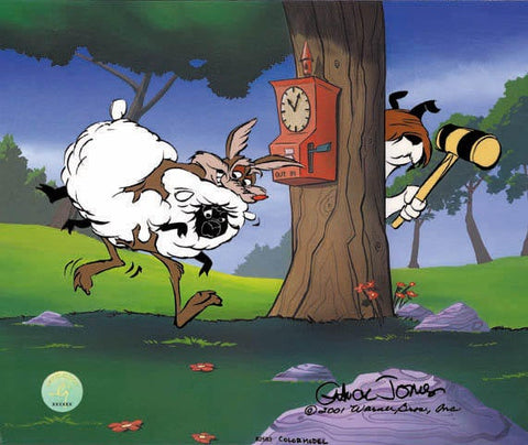 "Chuck Jones ""Ewe Thief!"" 2001 Warner Brothers Limited Edition Cel of 60"