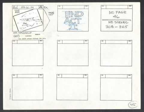 1977 New Adventures of Batman Production Storyboard art p45