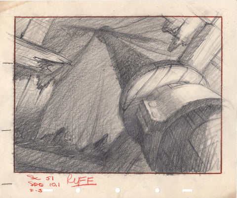 1940 Pinocchio Background Layout/Storyboard from Walt Disney Ship inside Whale!