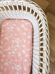Peach Arrow Scatter | Bassinet Sheet | Elske - Dream Child Emporium  - 2