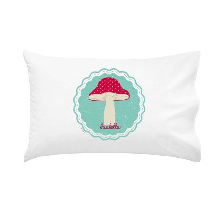 Toadstool Personalised Pillow Case