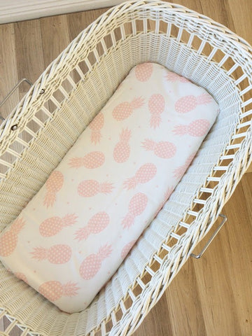 Pink Pineapple | Bassinet Sheet | Elske