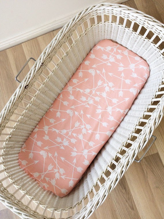 Peach Arrow Scatter | Bassinet Sheet | Elske - Dream Child Emporium  - 1