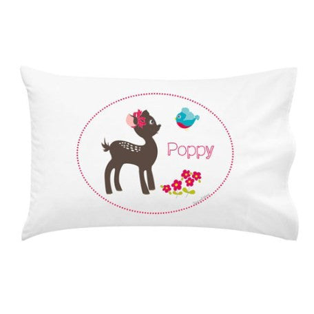 Pretty Fawn | Personalised Pillow Case
