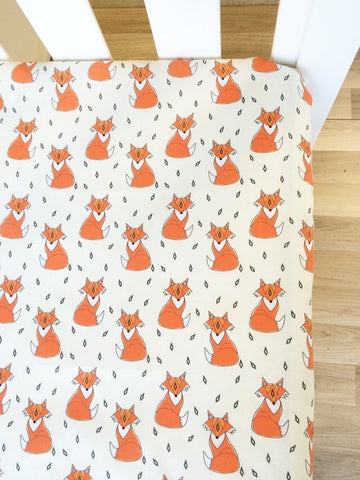 Mr Fox | Fitted Cot Sheet | Elske