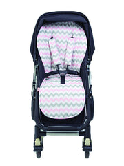Pram Liner | Chevron Pink | Bambella Designs - Dream Child Emporium
