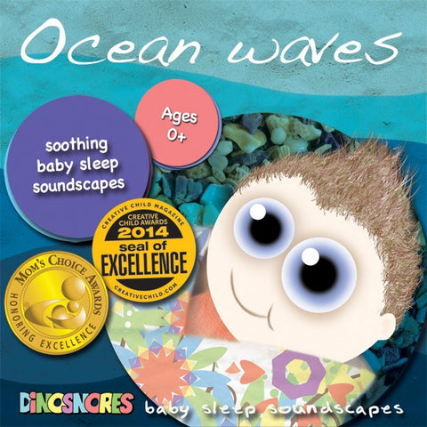 Ocean Waves | Sleep CD for Babies | Dinosnores