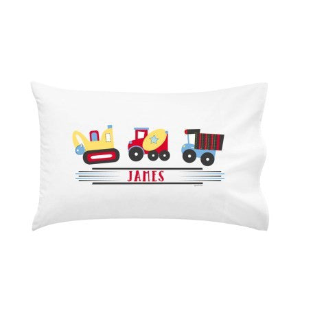Trucking Along Personalised Pillow Case