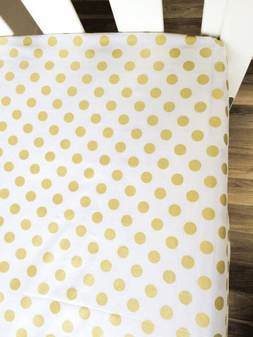 Metallic Gold Shimmer Dot | Fitted Cot Sheet | Elske