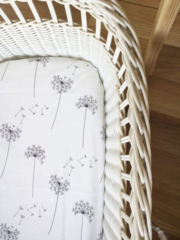 Dandelion | Bassinet Sheet | Elske