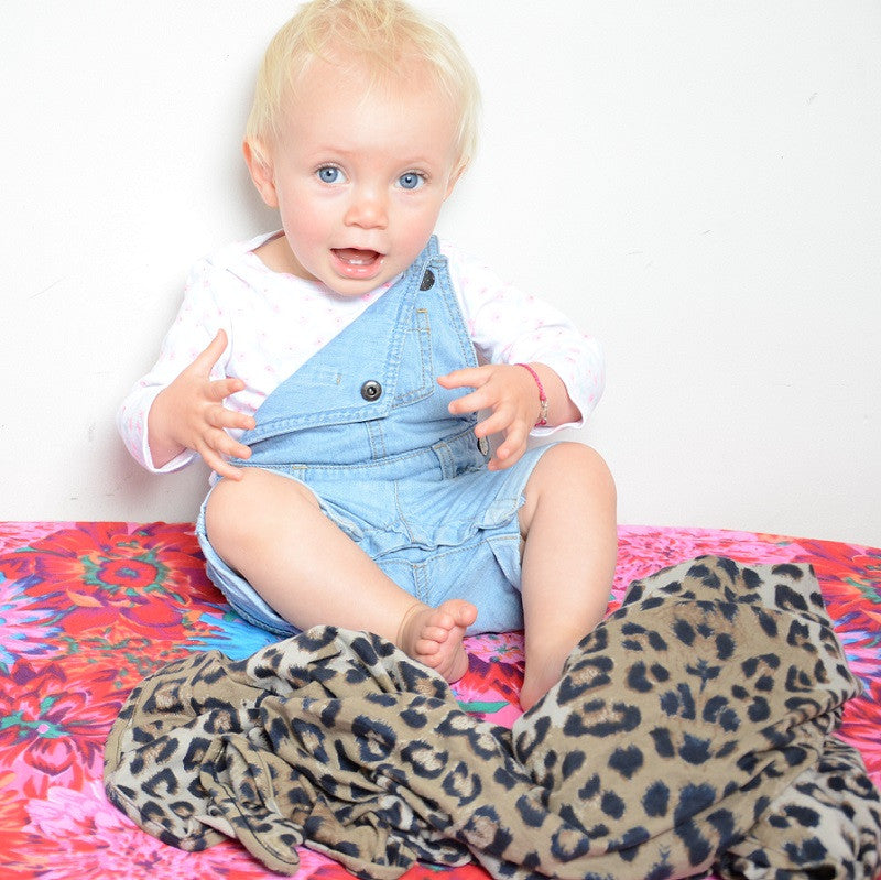Choc Brown Leopard Baby Wrap Wild Bliss Dream Child Emporium