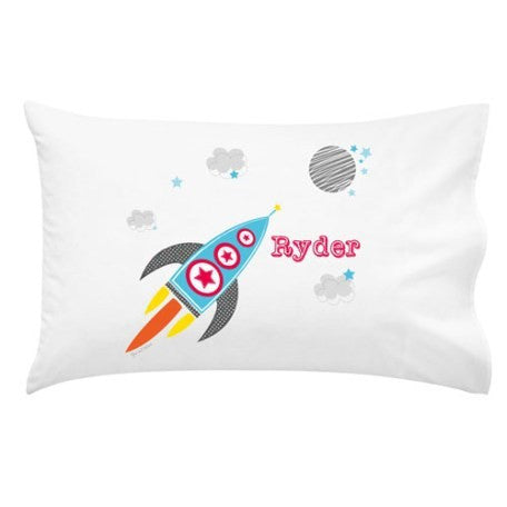 Rocket Personalised Pillow Case