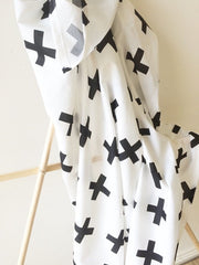 Black Swiss Kiss Cross | Light Baby Wrap | Elske - Dream Child Emporium  - 2
