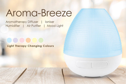 'AROMA BREEZE' ULTRASONIC 5 IN 1 RAINBOW VAPOURISER