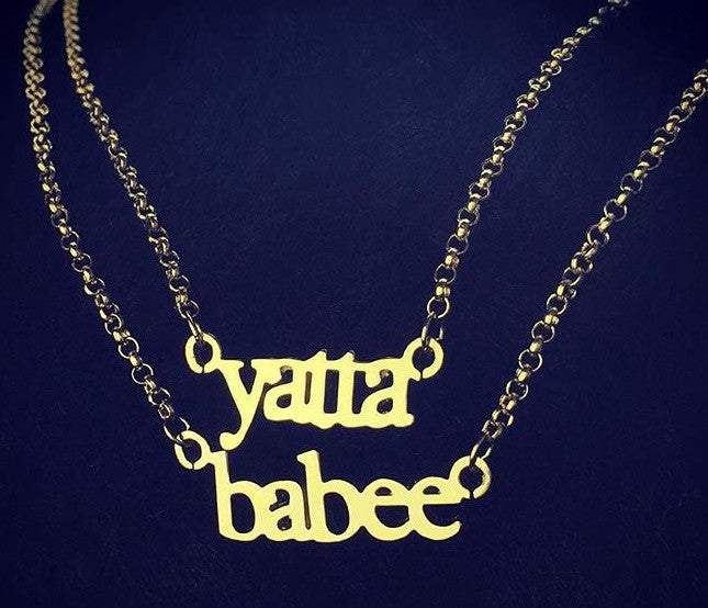 2 for $100.00 Mini Name Necklaces