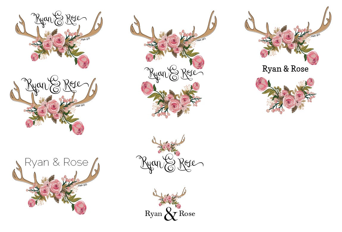 original ryan and rose logo designs