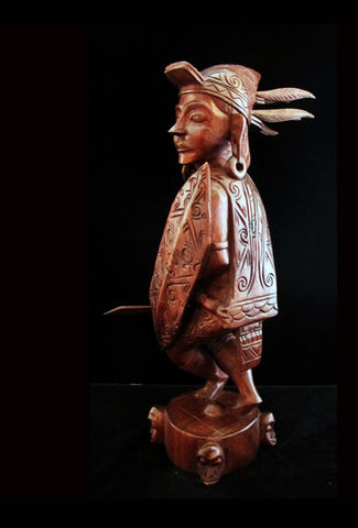 Dayak Headhunter Statue
