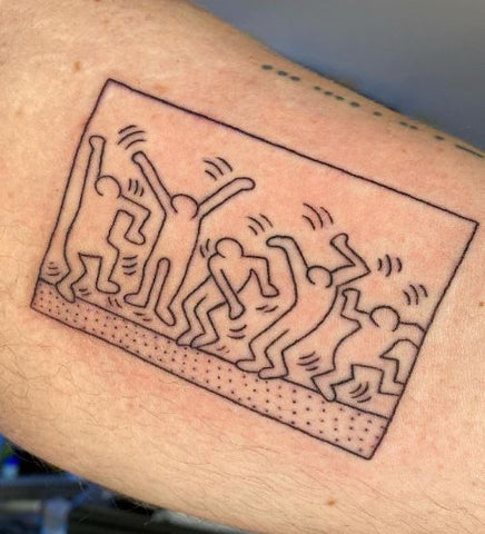 keith haring party tattoo