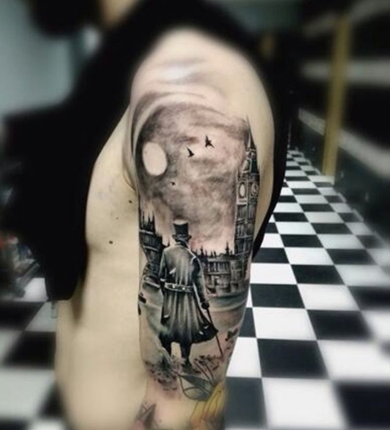 Beautiful big ben tattoos this new year tattoo ink by for Nocturnal tattoo ink