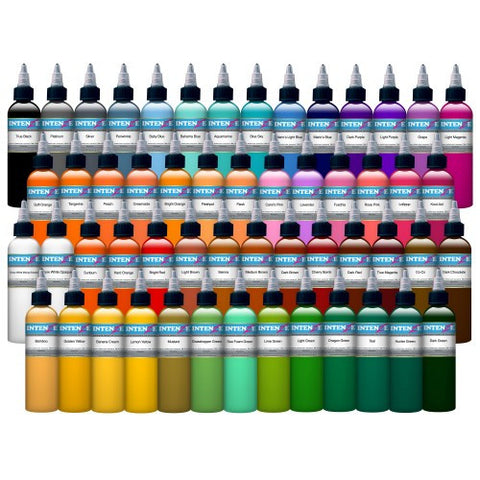 Intenze Ink Set - 54 Colours - magnumtattoosupplies