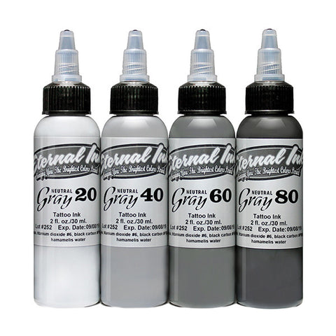 Eternal Ink Neutral Gray Set - 1oz (30Ml) - magnumtattoosupplies