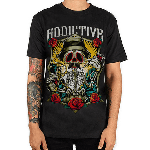 Drinking Skeleton Tee by Addictive Clothing - magnumtattoosupplies